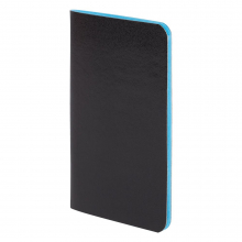 Блокнот Excentrica, черный с голубым