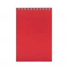 Блокнот Nettuno mini в клетку, красный