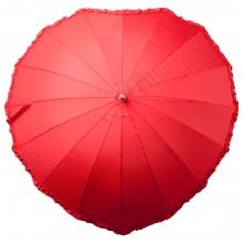 Зонт-трость «Сердце», красный