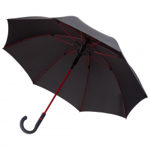 Зонт-трость с цветными спицами Color Style ver.2, красный