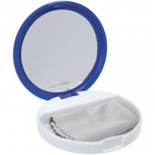 Зеркало с подставкой для телефона Self, синее