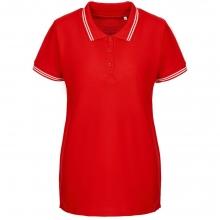 Рубашка поло женская Virma Stripes Lady, красная