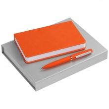 Набор Basis Mini: ежедневник и ручка, оранжевый
