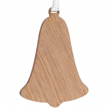 Деревянная подвеска Carving Oak, в форме колокольчика