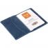 Обложка для паспорта Apache, синяя, , натуральная кожа