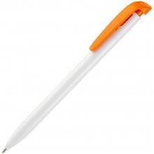 Ручка шариковая Favorite, белая с оранжевым