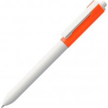 Ручка шариковая Hint Special, белая с оранжевым