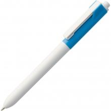 Ручка шариковая Hint Special, белая с голубым