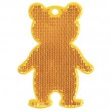 Пешеходный светоотражатель «Мишка», оранжевый