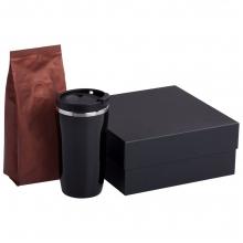 Набор Grain: термостакан и кофе, коричневый