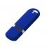 Флешка Memo, 8 Гб, синяя, , пластик; покрытие софт-тач