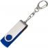 Флешка Twist, синяя, 4 Гб, , металл; пластик