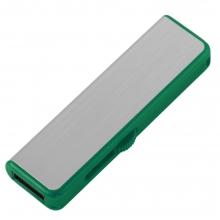 Флешка Ferrum, серебристая с зеленым, 8 Гб