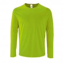 Футболка с длинным рукавом SPORTY LSL MEN, неоново-зеленая