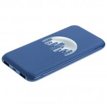 Аккумулятор с подсветкой логотипа markBright City, 10000 мАч, синий