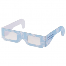 Новогодние 3D очки «Снежинки», голубые