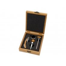 Набор аксессуаров для вина «Бомонт», коричневый замочек