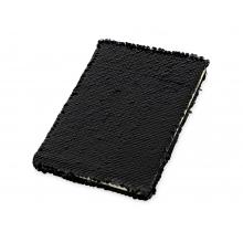 Блокнот с пайетками Fashion, черный