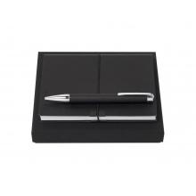 Подарочный набор: блокнот А6, ручка шариковая. Hugo Boss