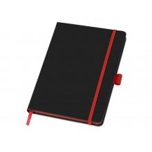 Блокнот Color edge A5, черный/красный