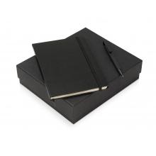 Подарочный набор Jacque с ручкой-подставкой и блокнотом А5, черный