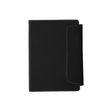 Блокнот A5 Horsens с шариковой ручкой-стилусом, черный