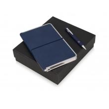 Подарочный набор Silver Sway с ручкой и блокнотом А5, синий