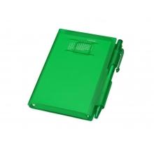Записная книжка Альманах с ручкой, зеленый