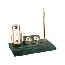 Настольный прибор «Дворянское собрание», золотистый/зеленый
