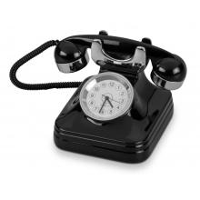 Часы «Ретро-телефон», черный