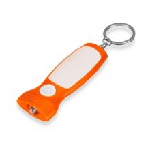 Фонарик с белой вставкой, оранжевый/белый