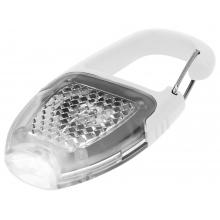 Брелок - фонарик с отражателем и карабином, белый/прозрачный