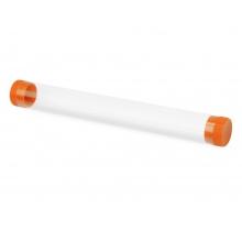Футляр-туба пластиковый для ручки «Tube 2.0», прозрачный/оранжевый