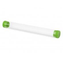 Футляр-туба пластиковый для ручки «Tube 2.0», прозрачный/зеленое яблоко