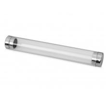Тубус для 1 ручки «Аяс», прозрачный/серебристый