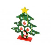 Декоративная елочка c игрушками и Дед-морозом