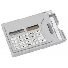 Визитница «Бухгалтер» с калькулятором и ручкой, серый