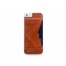 Кошелек-накладка на iPhone 5/5s и SE, коричневый