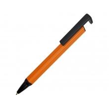 Ручка-подставка металлическая, «Кипер Q», оранжевый/черный