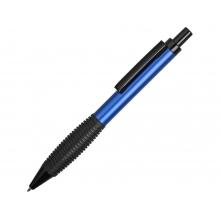 Ручка металлическая шариковая «Bazooka» с грипом, синий/черный