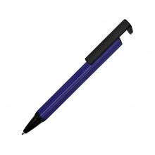 Ручка-подставка металлическая, «Кипер Q», синий/черный