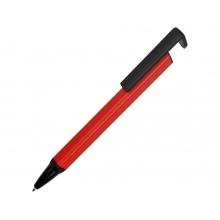 Ручка-подставка металлическая, «Кипер Q», красный/черный