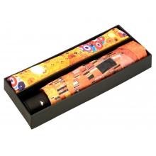 Набор: платок, складной зонт «Климт. Поцелуй», оранжевый