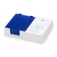 Подставка под ручку и скрепки «Потакет», белый/синий