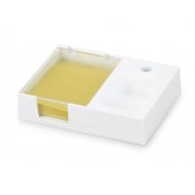 Подставка под ручку и скрепки «Потакет», белый/прозрачный