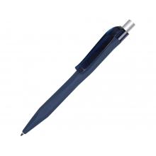 Ручка шариковая QS 20 PRT Z софт-тач, синий/серебристый