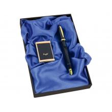 Набор: ручка-зажигалка, пепельница «Акра», черный/золотистый