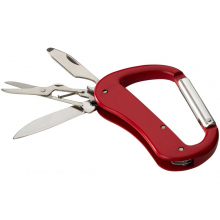 Нож Canyon с карабином, 5 функций, красный
