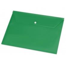 Папка-конверт А4 с кнопкой, зеленый