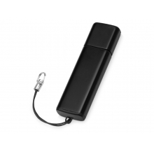 Флеш-карта USB 2.0 16 Gb металлическая с колпачком Borgir, черный